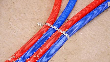 绑电线一定要用这种专业手法,水电工必学技能,电线再也不会乱了