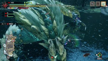 怪物猎人崛起:太刀雷狼龙,一开场就被三连打晕!