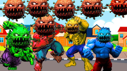 超级英雄游戏:消灭病毒救出绿巨人