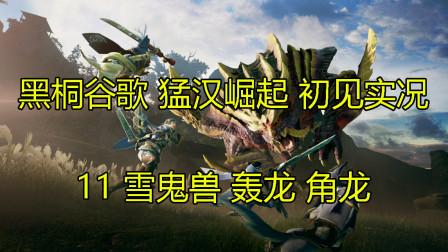 黑桐谷歌【怪物猎人 崛起】开荒实况11  雪鬼兽 轰龙 角龙