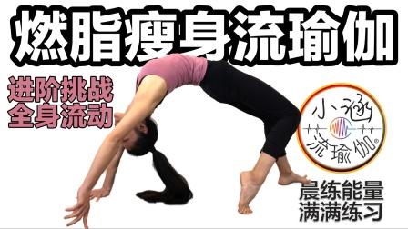 燃脂瘦身流瑜伽,进阶挑战全身流动,晨练能量满满练习