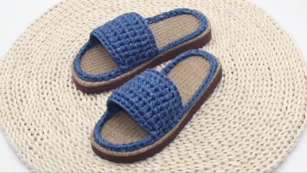 布条居家拖鞋钩编,简单易编织,舒适不累脚