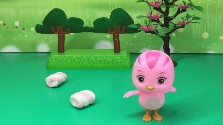 朵朵爱吃棉花糖,结果被怪兽抓住了