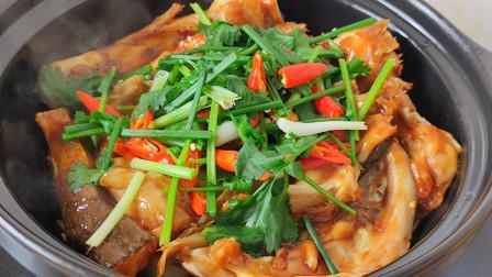 教你广东啫啫鱼头煲的做法,鲜香滑嫩,不出水,比剁椒鱼头还好吃