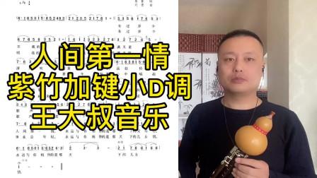 《人间第一情》紫竹加键葫芦丝小D调演奏,不改变原指法能吹高音