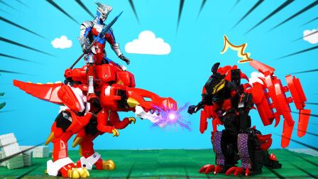 机械赛罗与机甲霸王龙合体,贝利亚都不是对手