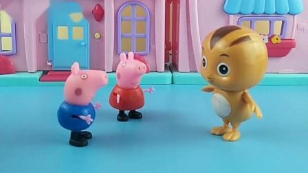 僵尸抓了猪妈妈和鸡妈妈,佩奇和大宇正在想办法