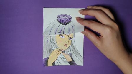 如何用一张纸手绘精灵梦叶罗丽白光莹三次变换发型,哪次最漂亮