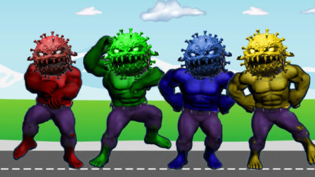 超级英雄游戏:绿巨人打败病毒
