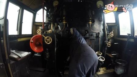 老外蒸汽机车,保养蛮好