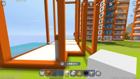 小路迷你世界生存71:实验楼也是7层,没有电梯