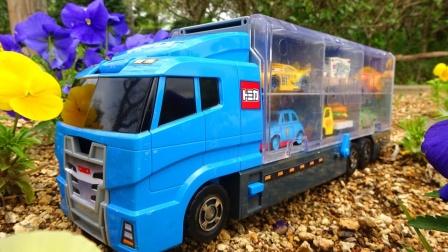 大卡车寻找13辆彩色汽车玩具