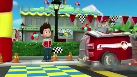 汪汪队:亚力也想参加赛车,但一辆脚蹬的三轮车,怎么比赛呢!