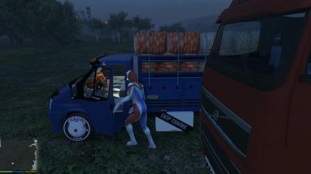 小游戏:奥特曼开工程车