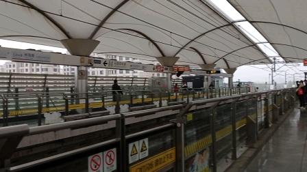 上海地铁6号线花木兰二世洲海路进站(终点站东方体育中心)