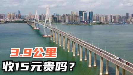 实拍湛江海湾大桥,15年前耗资12亿建成,4公里收费15元贵吗?