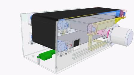伸缩式运输机的机械构造,见识巧妙的设计!