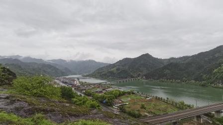 雨天登厦河塔,观山水美景!定位浙江丽水好溪!