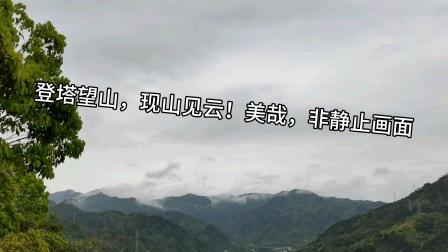 登塔望山,现山见云!美哉,非静止画面!定位浙江省丽水市!