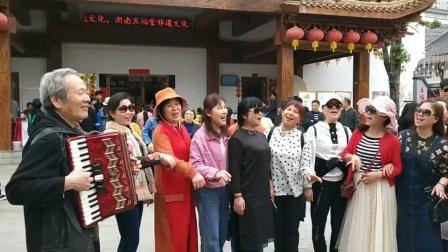 今天芙蓉合唱团部分成员长沙洋湖水街一日游