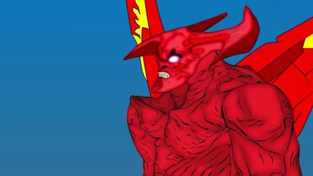 超级英雄战队激战飞天斧头怪 动漫特效