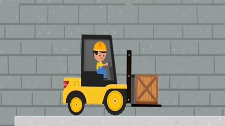 儿童工程车积木游戏,模拟组装一辆叉车