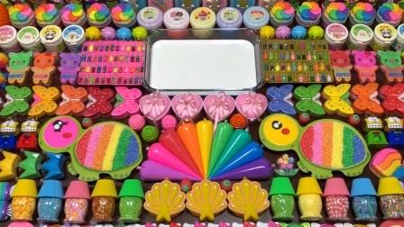 太解压了!把蝴蝶、彩虹等90多种材料混入史莱姆,漂亮无硼砂