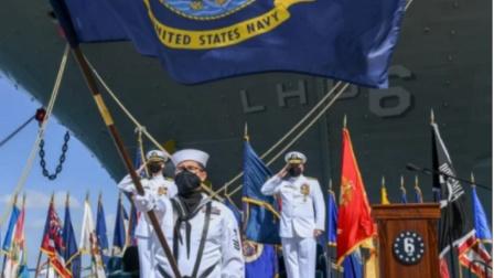 """暴毙!美军总在中国南海搅事的四万吨准航母,终于""""放弃治疗"""