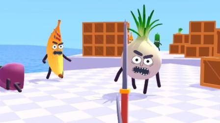 这个切水果蔬菜的小游戏太好玩啦!