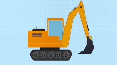 积木汽车儿童游戏,组装一辆挖掘机