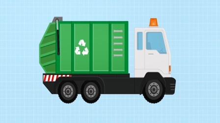 儿童积木汽车游戏,组装一辆垃圾车