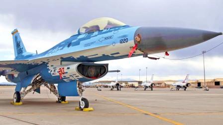 """美国空军F-16战隼改Su-57涂装方案扮演""""敌方""""(3308)"""