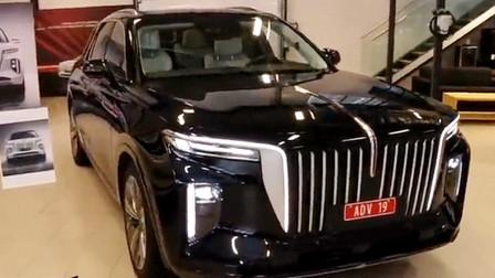 新车到店,实拍2021款红旗E-HS9,国产超豪华SUV,还想库里南吗