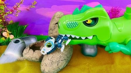 彩色小零件拼搭迷你恐龙玩具