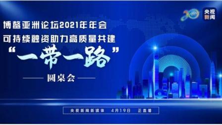 """博鳌亚洲论坛2021年年会共建""""一带一路""""圆桌会"""