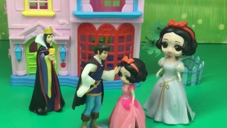 王子娶白雪啦,结果出现了两个白雪