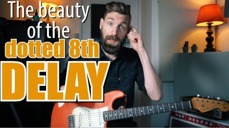 The dotted 8th note delay trick