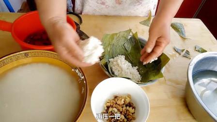 农村妈妈教你做懒人粽子,端午节不会包可以这么做,简单又美味!