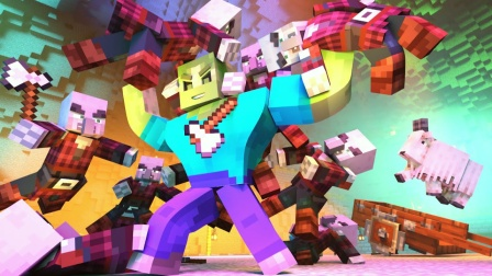 我的世界:巨人僵尸VS掠夺者军团