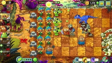 植物大战僵尸2:会爆炸的坚果,输出真的太猛了,其他植物躺赢