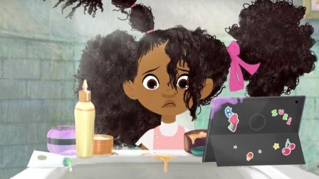 女孩天生爆炸头,每天梳头发成了大问题