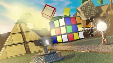 ROBLOX方块塔防:建造电磁炮摧毁外星立方体进攻!面面解说
