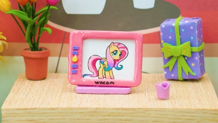 DIY手工:制作迷你粉色卡通电视机