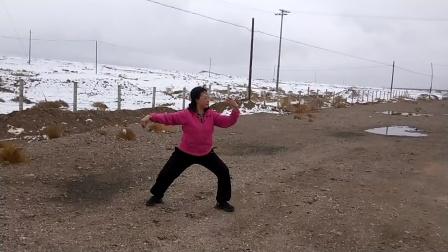 2021年4月20在青藏高原演练杨式太极拳