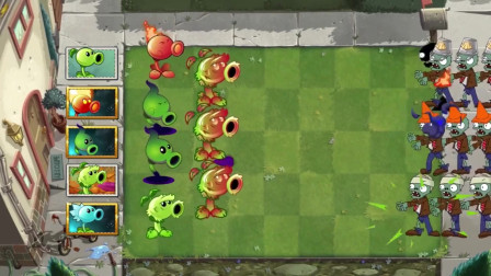 植物大战僵尸动画:豌豆家族打败僵尸