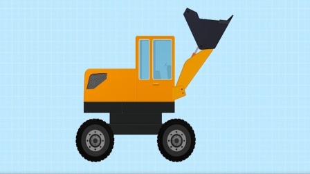 儿童工程车积木游戏,模拟组装推土机