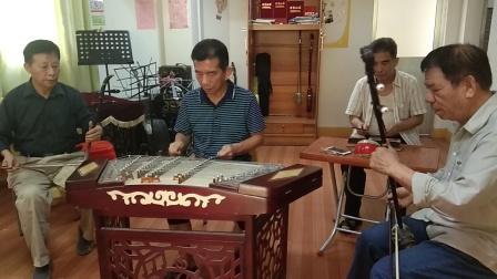 江南红光社区汉乐队欢迎刁司令、张局亲临指导,广东汉乐《柳叶金》(正指缓板)。阳光录像。