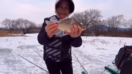 这个年龄段的大妈,居然喜欢钓鱼,还能钓到大板鲫!