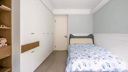 拆墙扩面积,9㎡儿童房打3.6米衣柜,颜值、收纳、休闲,无可挑剔