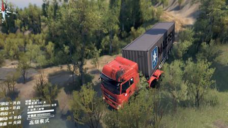 旋转轮胎:下坡速度过快,冲出路边撞向大树,车头一个大坑!